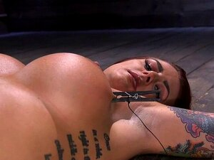 Huge tits bondage