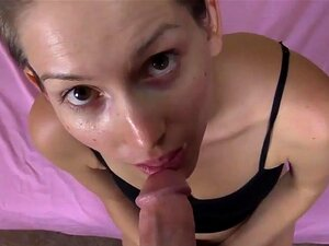 Charming Female Deeply Gobbles Thick Solid Pecker