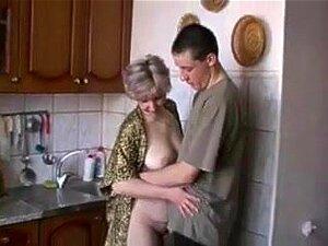 Kitchen porn mature Old Women